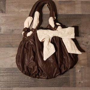 Boho Deux Lux for AEO purse with crochet bow